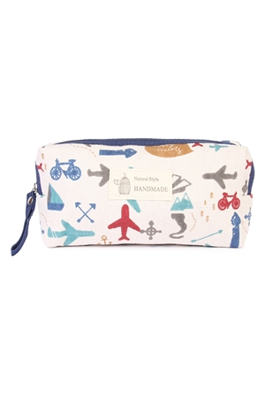S24-7-3-J122-6 SUMMER AIRPLANE COSMETIC POUCH/6PCS