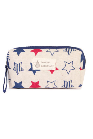 S4-6-5-AJ122-7- STARS COSMETIC POUCH/6PCS