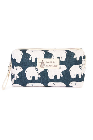 S24-7-3-J122-8 POLAR BEAR COSMETIC POUCH/6PCS