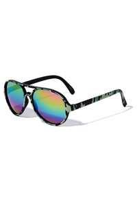 A3-1-1-K880-ROUND FRAME CAMOUFLAGE SUNGLASSES/12PCS