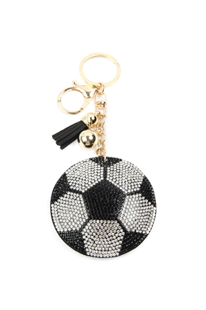 S28-7-3-KC380X024 - SPORTS SOCCER KEYCHAIN/6PCS