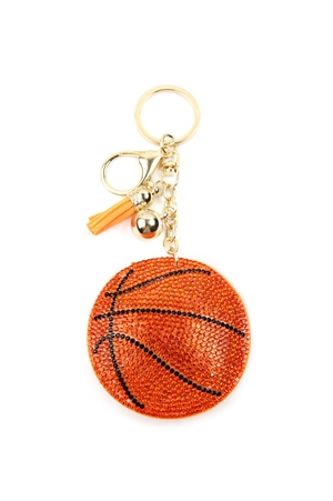 S25-7-5-KC380X072 - SPORTS BASKETBALL KEYCHAIN/6PCS