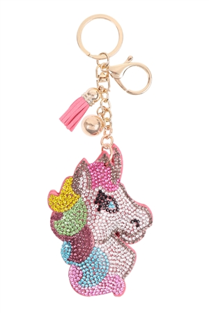 S26-9-2-KC380X106 - CUTE PONY TASSEL KEYCHAIN/6PCS