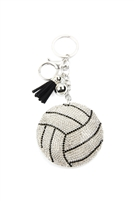 S28-7-3-KC380X176 - SPORTS VOLLEYBALL KEYCHAIN/6PCS