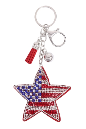 S26-9-2-KC380X179 - STAR USA TASSEL KEYCHAIN/6PCS