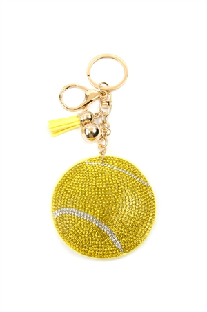 S28-7-3-KC380X249 - SPORTS TENNIS BALL KEYCHAIN/6PCS