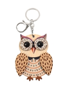 S20-11-5-KC417X025- CUTE OWL W/ MIRROR KEYCHAIN/6PCS