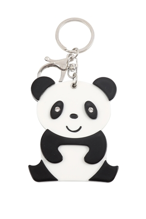 S20-11-5-KC417X038- CUTE PANDA W/ MIRROR KEYCHAIN/6PCS