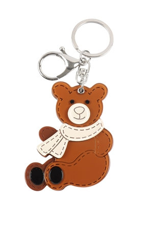 S20-11-5-KC417X040- CUTE SITTING BEAR W/ MIRROR KEYCHAIN/6PCS