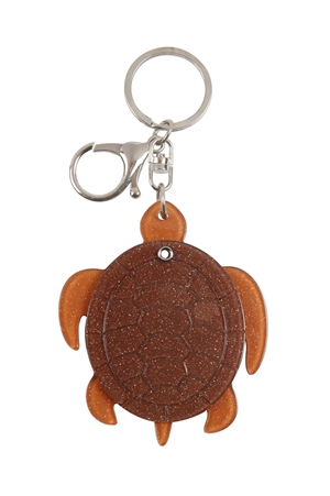 S20-10-5-KC417X048- TURTLE  W/ MIRROR KEYCHAIN/6PCS