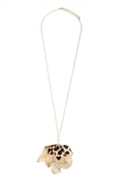S22-9-1-KN7188SA - LEOPARD PRINT FLOWER FABRIC NECKLACE - 6PCS