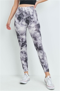 S16-8-3-LG9-183 ASSORTED COLOR TIE DYE LEGGINGS / 12PCS