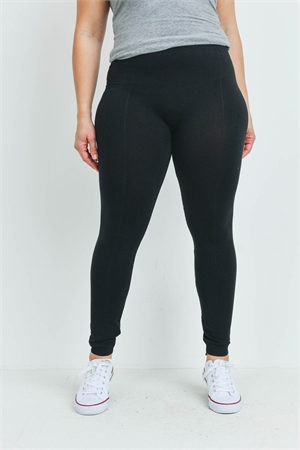 S15-1-3-LG9-BK7QX BLACK PLUS SIZE LEGGINGS / 12PCS