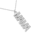 "S25-4-1-LNB542MARH - BRASS ""MAMA"" WITH CRY LETTER NECKLACE-SILVER/6PCS"