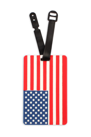 S7-6-2-ALT374X024 / HDP2041 AMERICA FLAG LUGGAGE TAG/6PCS