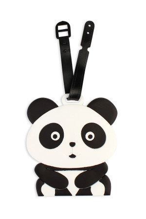 S4-4-1-ALT374X033 / HDP2040 PANDA LUGGAGE TAG/6PCS