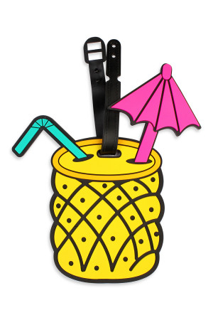 S6-6-3-ALT374X051 PINEAPPLE LUGGAGE TAG/6PCS