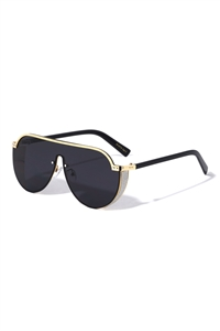 S22-5-2-M10773 - STEAMED PUNK ONE PIECE MIRROR FASHION SUNGLASSES/12PCS