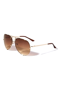 S17-1-5-M3663-OC-RIMLESS OCEANIC COLOR AVIATORS SPRING HINGE WHOLESALE BULK SUNGLASSES/12PCS