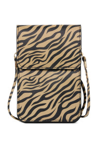 SA4-3-1-AMB0053 ZEBRA CELLPHONE CROSSBODY WITH CLEAR WINDOW/6PCS