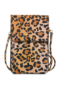 SA4-3-1-AMB0054 LEOPARD CELLPHONE CROSSBODY WITH CLEAR WINDOW/6PCS