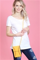 S7-4-1-AMB0057 SOFTBALL CELLPHONE CROSSBODY WITH CLEAR WINDOW POUCH/6PCS