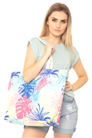 S28-8-2-MB0118 - HAND DRAWN TROPICAL TOTE BAG /6PCS