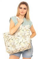 S28-2-5-MB0125BE - PAISLEY TOTE BAG BEIGE/6PCS
