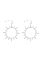 S17-12-4-ME10317WS- SUN CAST EARRINGS-MATTE SILVER/6PCS