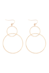 S24-1-4-ME4139GD - WIRE EARRINGS/6PCS