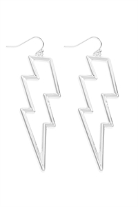 S22-11-5-ME4440RD - OPEN CAST LIGHTNING EARRINGS - SILVER/6PAIRS