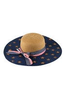 S18-8-5-MH0026BR-BROWN AMERICAN FLAG FLOPPY HAT/6PCS
