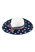 S18-7-5-MH0026WH-WHITE AMERICAN FLAG FLOPPY HAT/6PCS