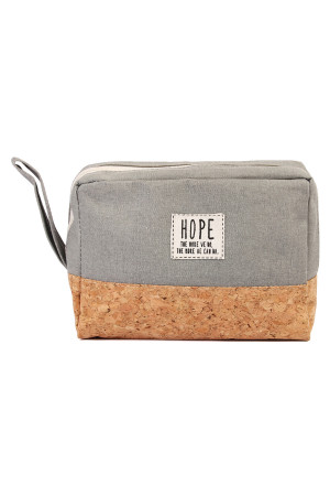 S4-5-5-AMP0005GR GRAY HOPE COSMETIC POUCH/6PCS