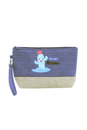 SA3-2-5-AMP0012BL BLUE BEACH BAG POUCH CACTUS/6PCS