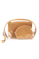S26-9-2-MP0076 - CORK AND CLEAR 3PCS POUCHES /6PCS