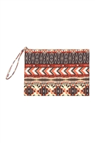 S18-9-5-MP0088- AZTEC PATTERN POUCH/6PCS
