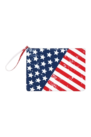 S18-9-5-MP0099- AMERICAN FLAG POUCH/6PCS