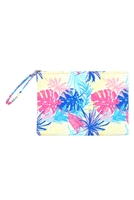 S27-9-2-MP0118 - HAND DRAW TROPICAL LEAVES POUCH /6PCS