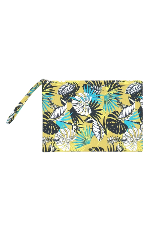 S27-9-2-MP0119 - TROPICAL LEAVES POUCH /6PCS