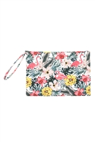 S27-9-2-MP0120 - TROPICAL HISBISCUS FLAMINGO POUCH /6PCS