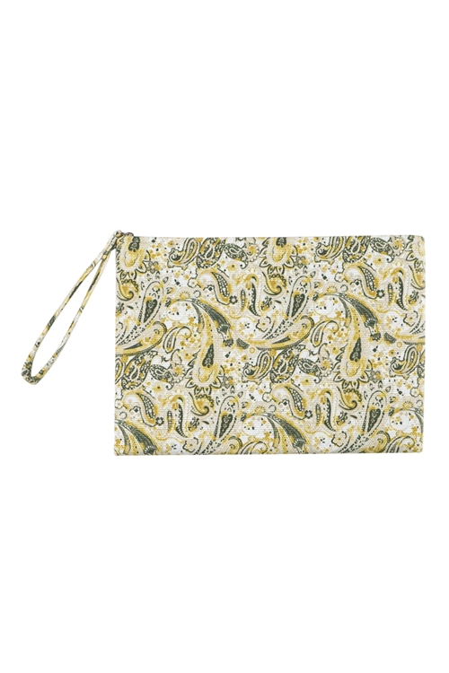 S27-9-2-MP0125BE - PAISLEY POUCH BEIGE/6PCS