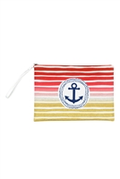 S27-9-2-MP0127RD - STRIPE ANCHOR POUCH RED/6PCS