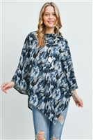 S29-3-2-MS0164GR - ALL YEAR ROUND CAMO PONCHO GREY/6PCS