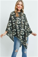S29-3-2-MS0164OV - ALL YEAR ROUND CAMO PONCHO OLIVE/6PCS