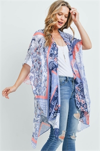 S18-11-4-MS0175DB - PAISLEY MULTI PRINT PATCH KIMONO DENIM BLUE/6PCS