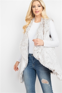 S28-7-2-MSV0020TP - FAUX FUR POCKET VEST - TAUPE /6PCS