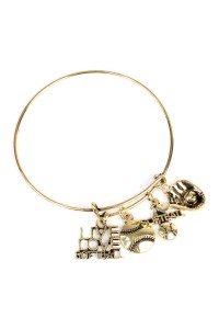 S7-5-2-AMYB1003BG GOLD SOFTBALL BRACELET/12PCS