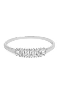 SA3-2-2-AMYB1024R RHODIUM ZIRCON MESH BANGLE BRACELET/6PCS