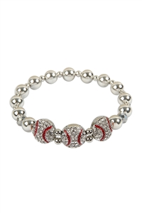 SA3-3-4-AMYB1124BAS BCC SOFTBALL STRETCH CHARM BRACELET/6PCS